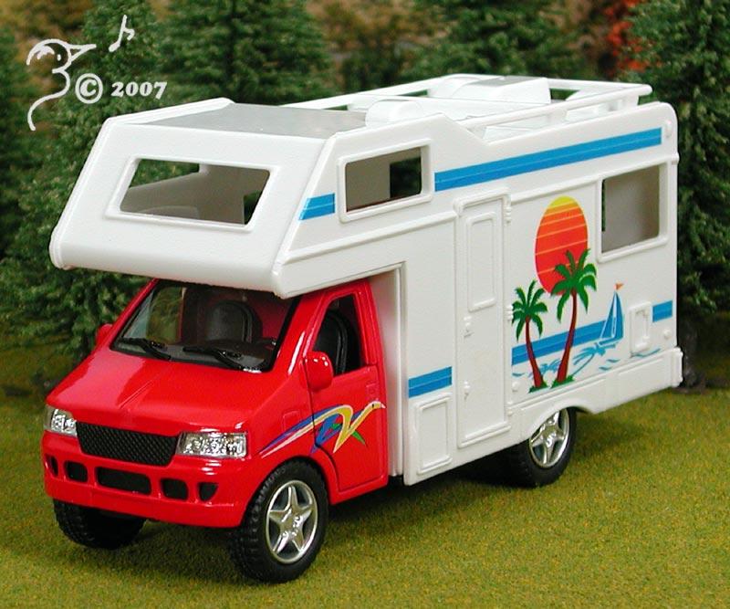Recreational Vehicle: Die Cast Camper Van Recreational Vehicle O Scale 1:43 By